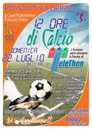 Torneo calcio Telethon – 22 Luglio 2012