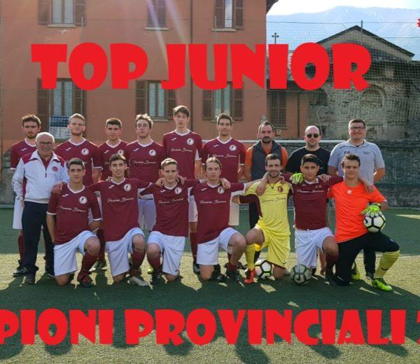top junior campioni provinciali 2018 .