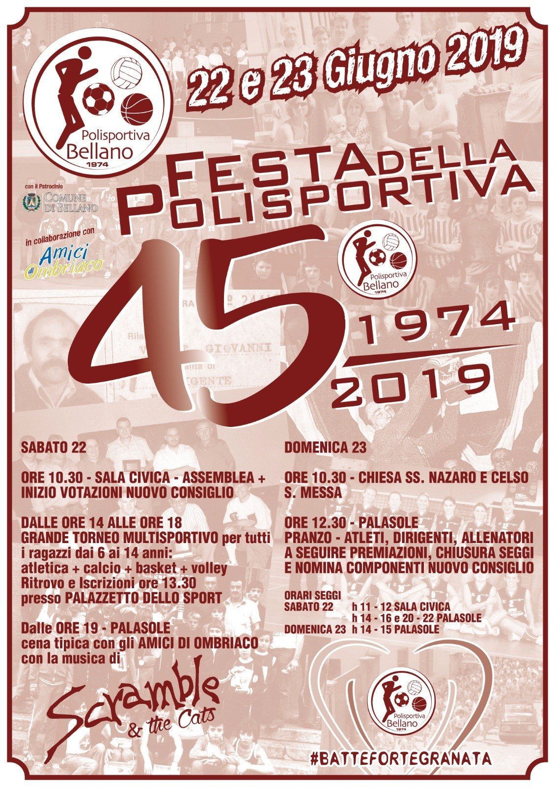 22-23 GIUGNO FESTA POLISPORTIVA BELLANO